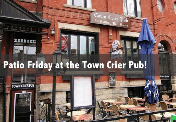 patio friday at the town crier pub