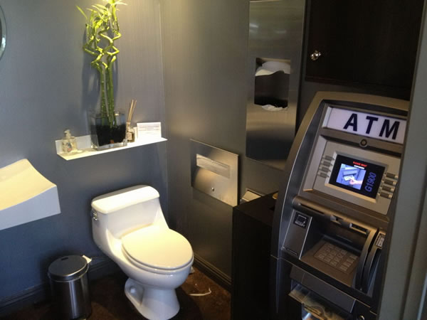 atm in the bathroom