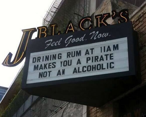 drinking rum at 11am