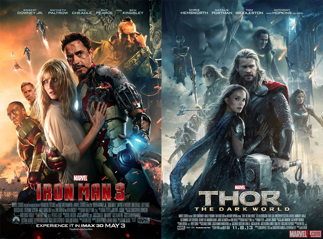 "Too Close for Comfort: The ""Iron Man 3"" and ""Thor: The"