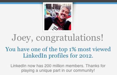 joey devilla top 1 percent linkedin 1