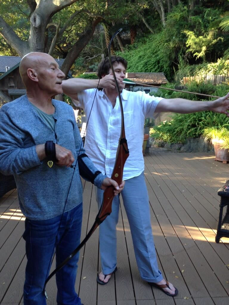 patrick stewart bow and arrow 1