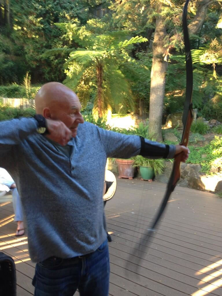 patrick stewart bow and arrow 2