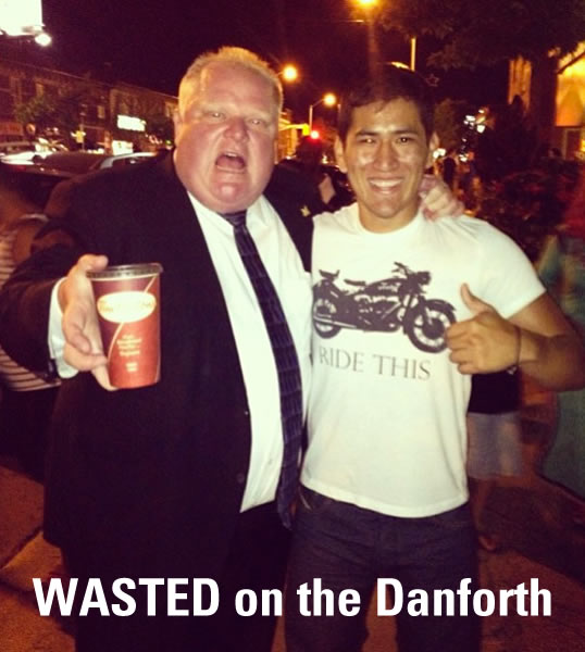 rob ford - wasted on the danforth