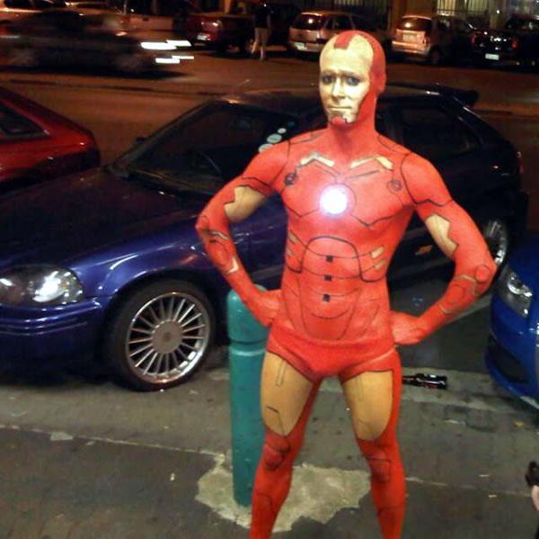 disturbing iron man costume