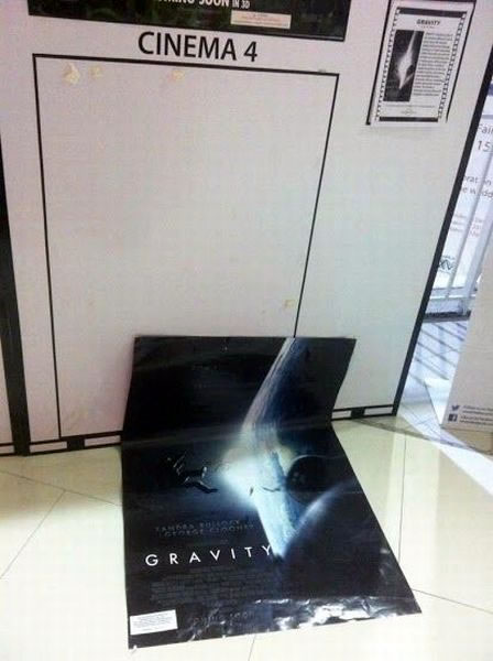 excellent gravity poster placement