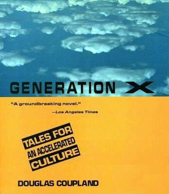 Cover of Douglas Coupland's book, 'Generation X'.