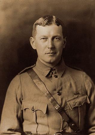 Photo of Lt. Col. John Alexander McCrae, circa 1914.