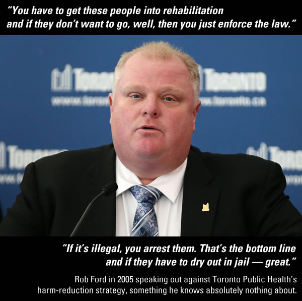 rob ford on harm reduction