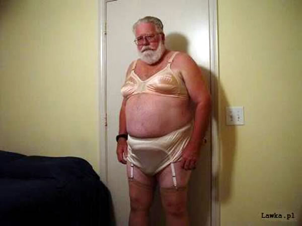 sad women's underwear santa