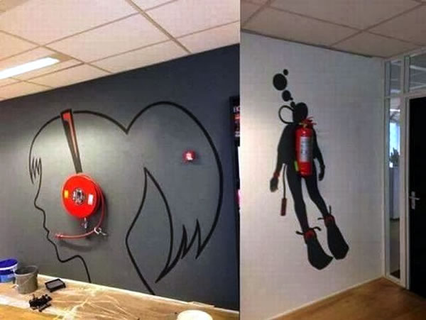 A clever office decorating idea the adventures of for Wall paintings for office