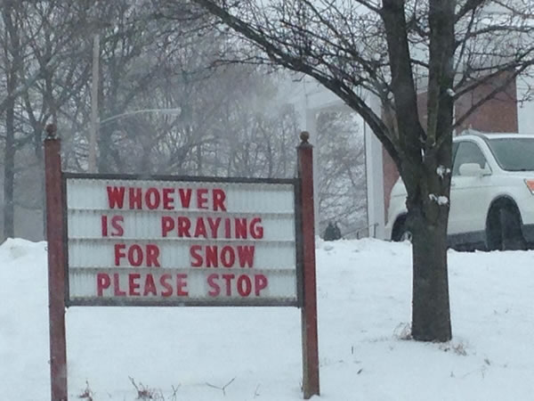 whoever is praying for snow - please stop
