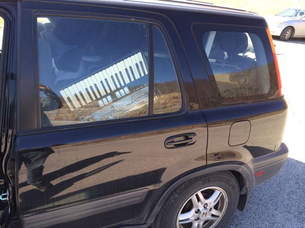 accordion in car