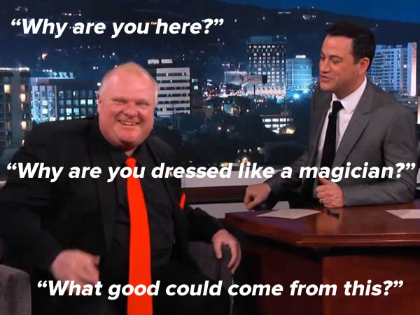 rob ford on kimmel