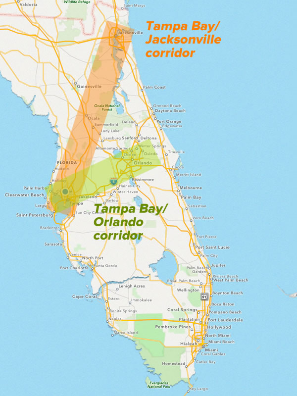 tampa bay corridor growth