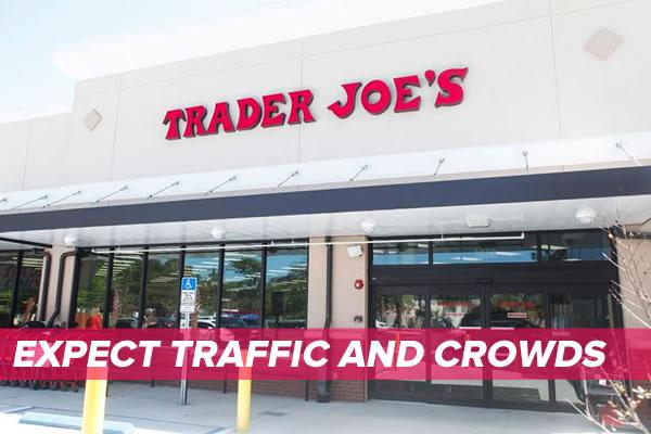trader joe's tampa - traffic and crowd