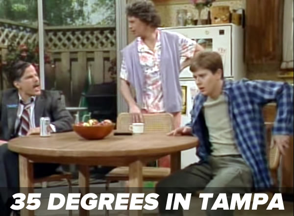 35 degrees in tampa