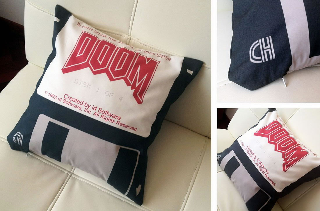 doom throw pillow
