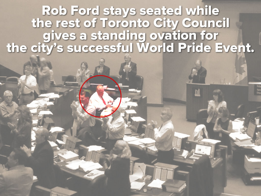 rob ford stays seated