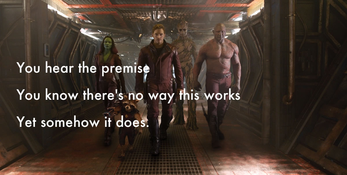 guardians of the galaxy haiku review