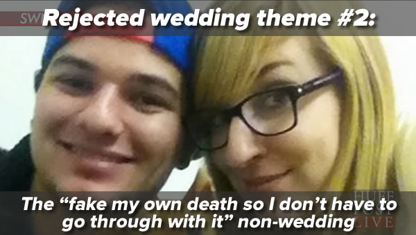 rejected wedding theme 2