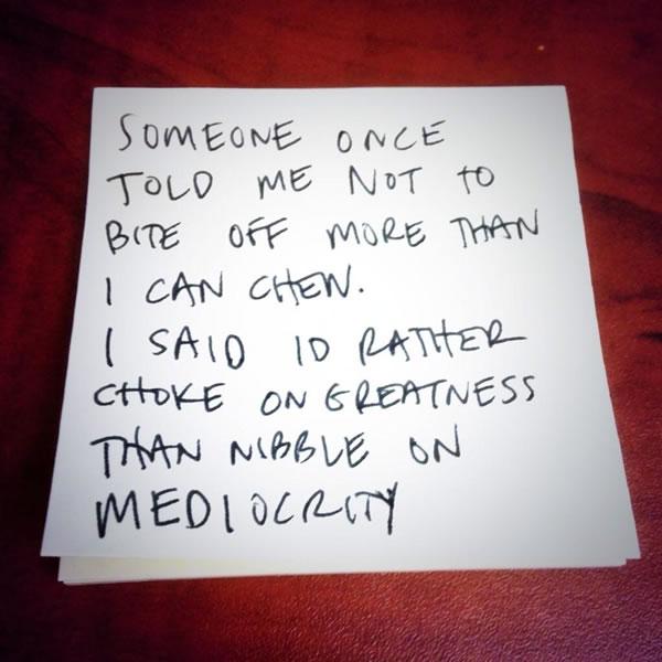 choke on greatness