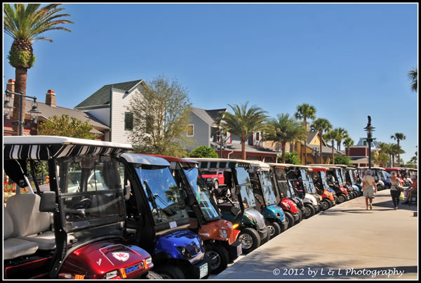golf carts aplenty