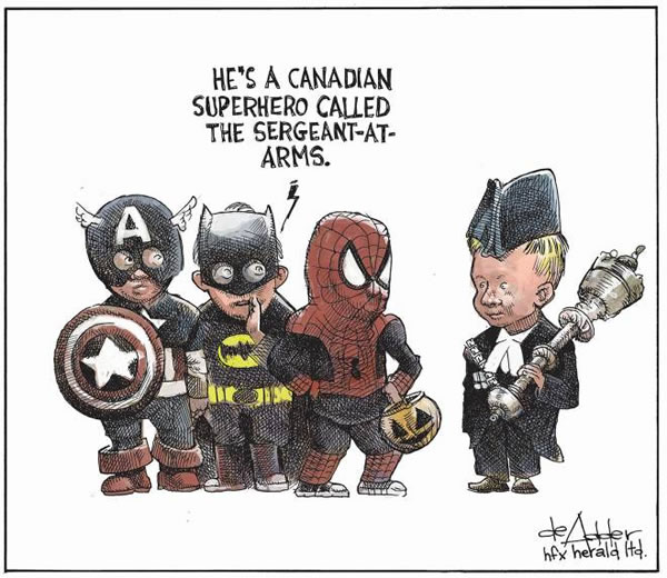 canadian superhero - sergeant-at-arms