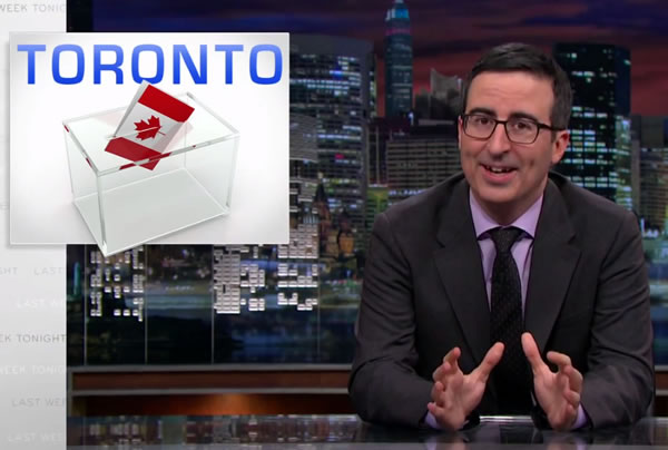 john oliver on toronto's election