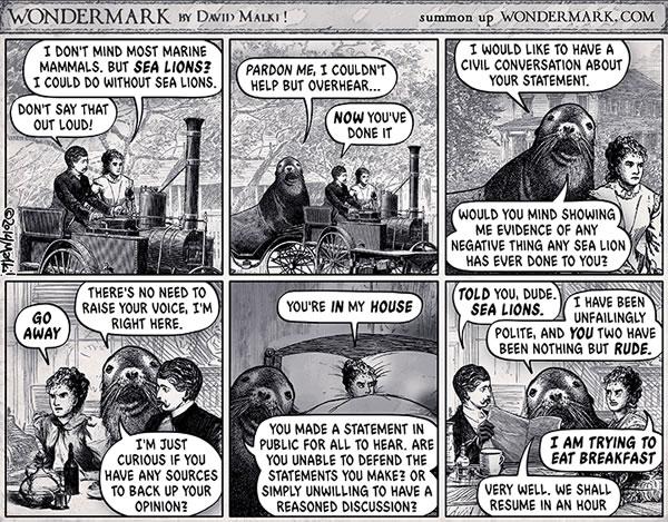 sea lioning