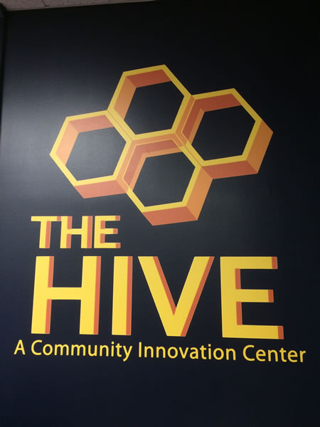 01 the hive sign