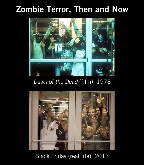 zombie terror then and now