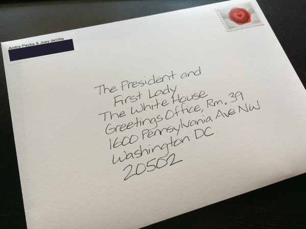 an invite for the prez