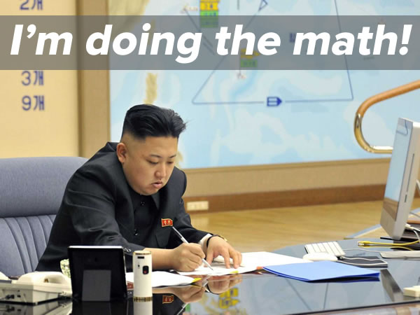 kim jong-un does the math