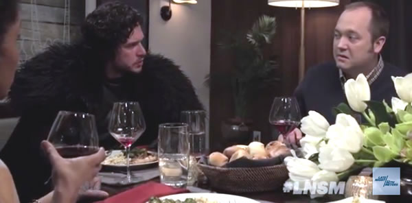 jon snow dinner party guest