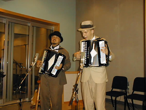 Joey and Karl play accordions