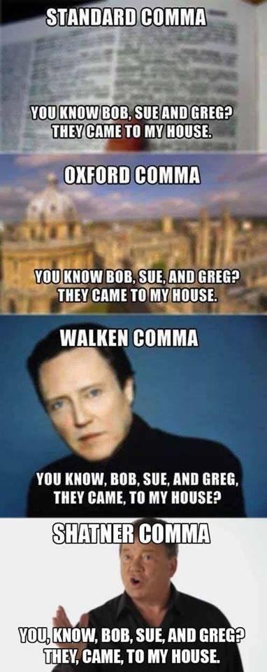comma styles
