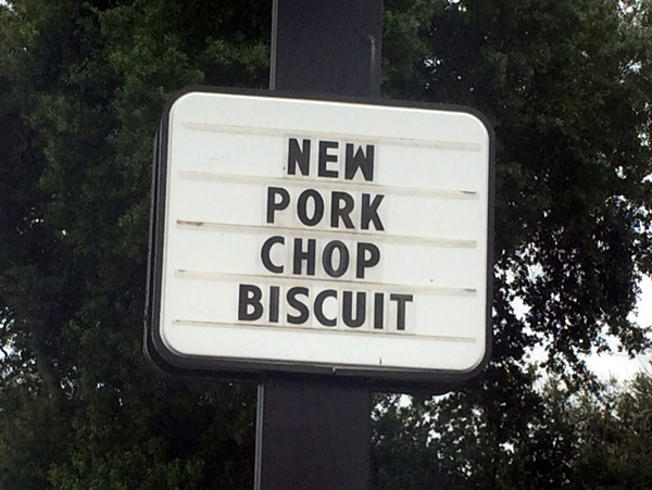 new pork chop biscuit