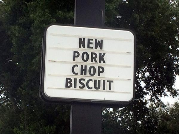 new pork chop biscuit