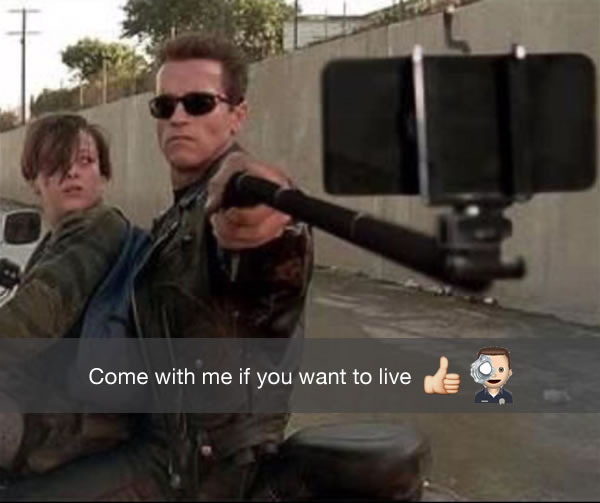 terminator 2 in the age of snapchat