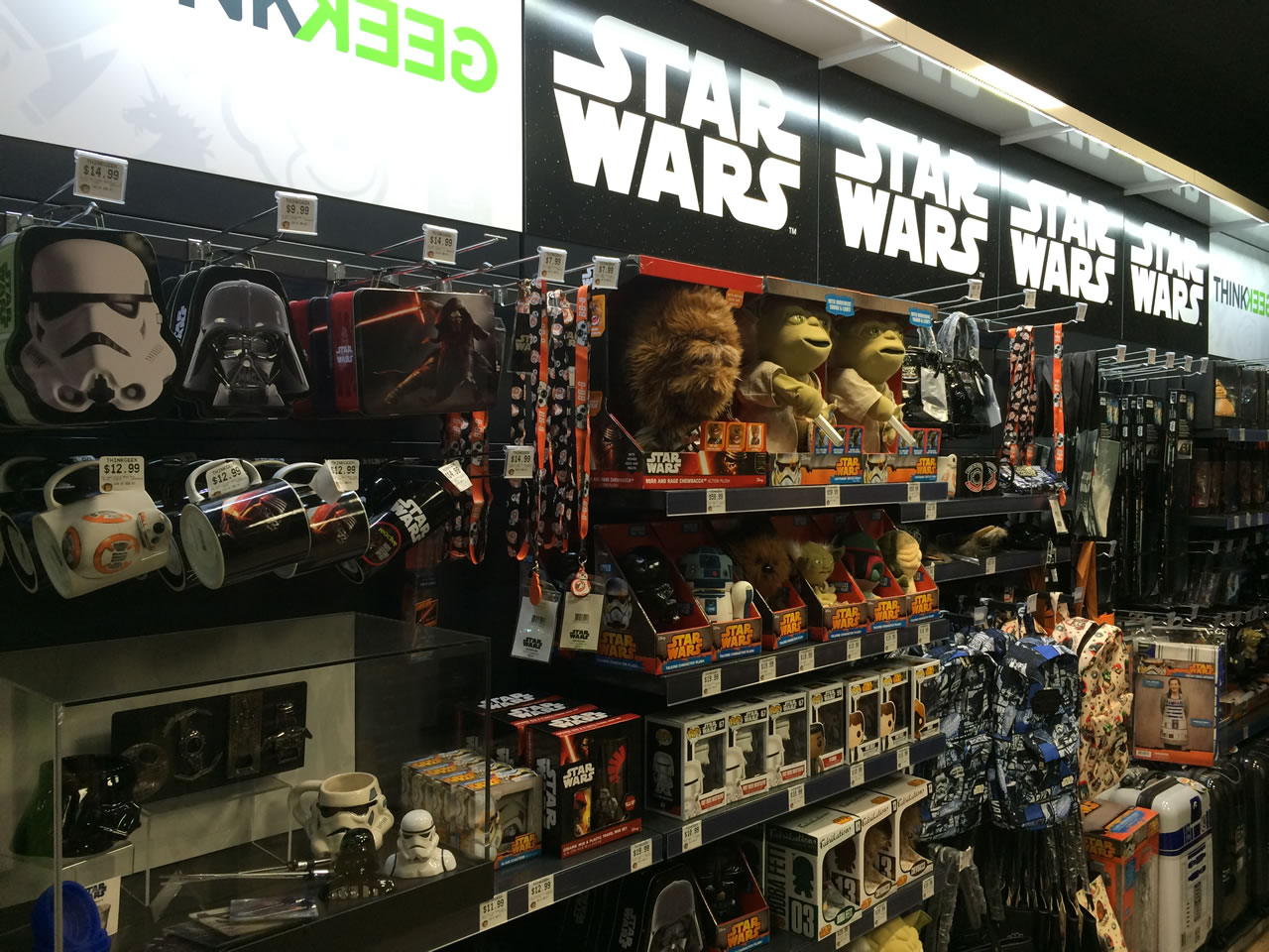 14 thinkgeek store - star wars wall