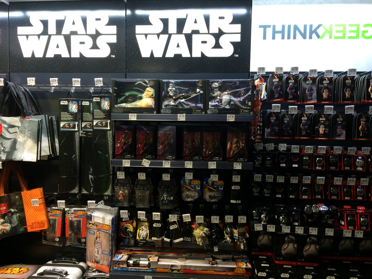 15 thinkgeek store - star wars wall