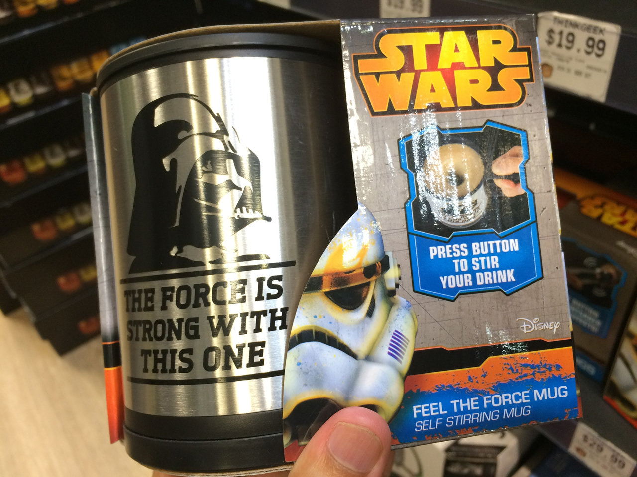 19 thinkgeek store - force mug