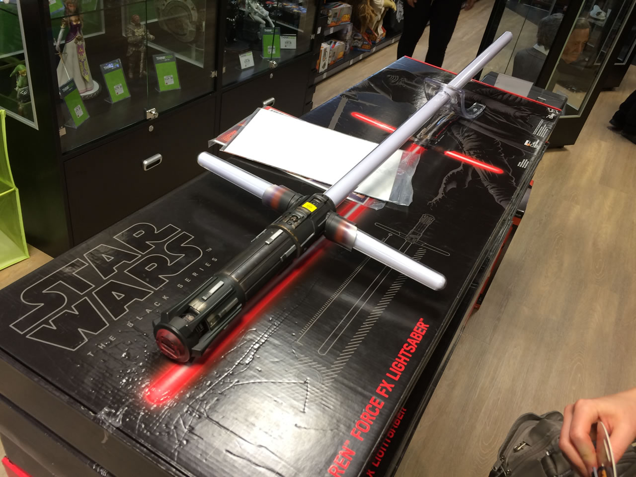 24 thinkgeek store - kylo ren lightsaber