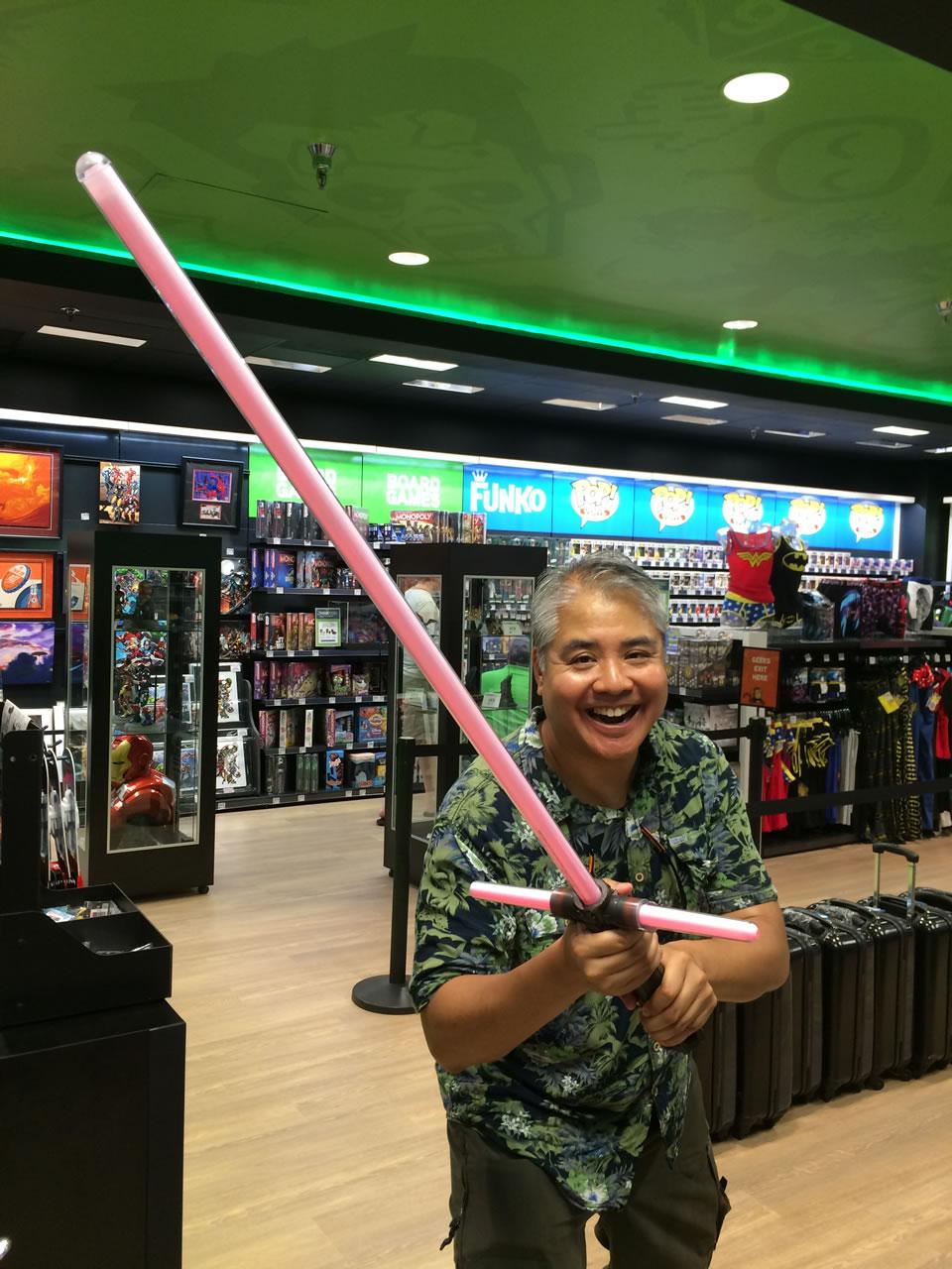 25 thinkgeek store - joey and kylo ren lightsaber