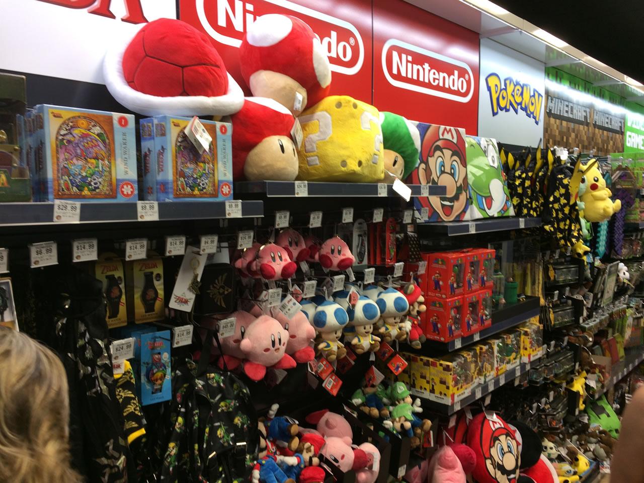 27 thinkgeek store - video games wall 2