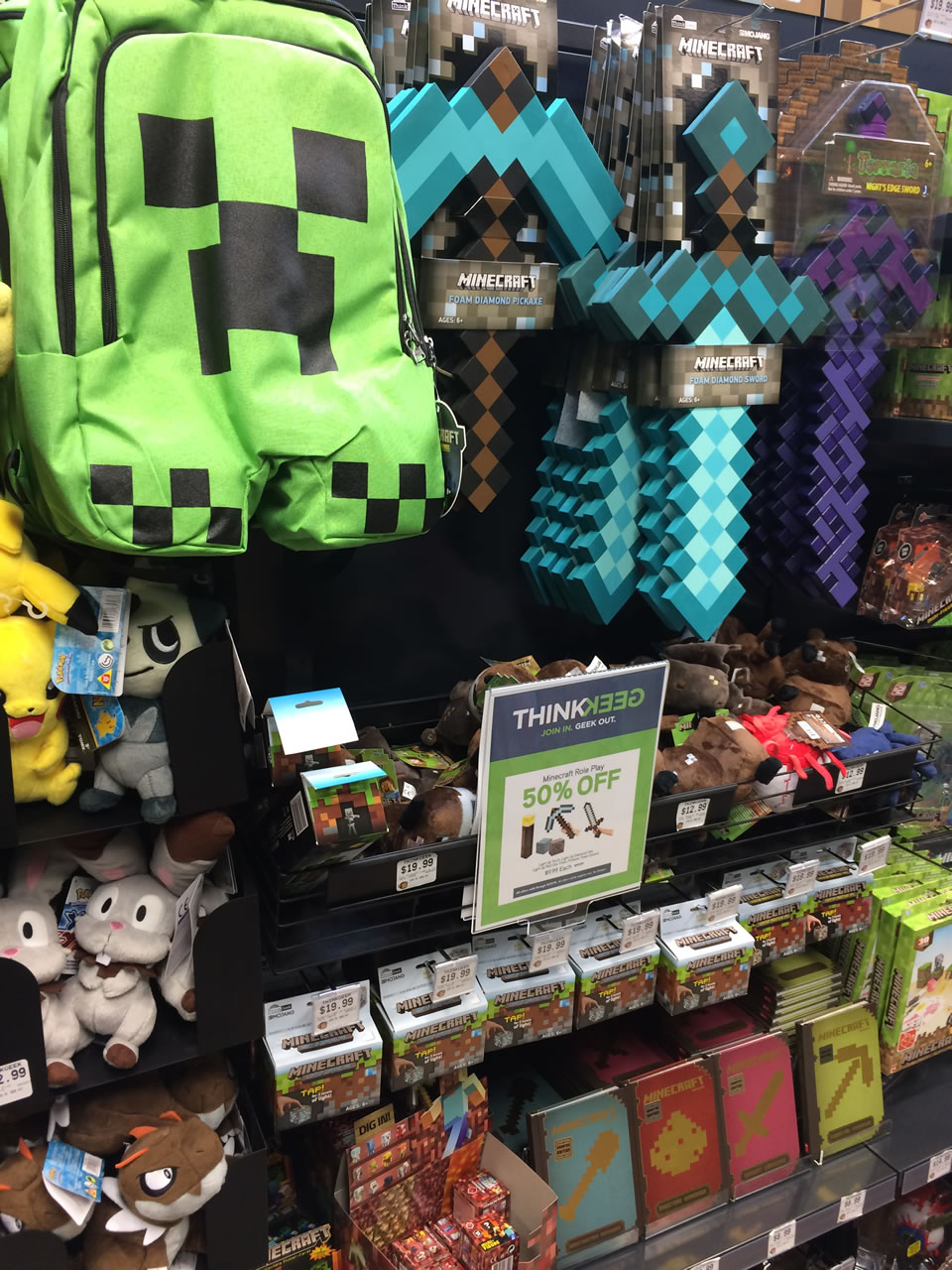 29 thinkgeek store - minecraft