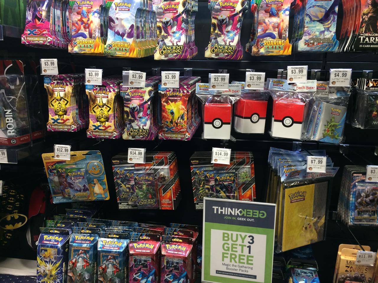 50 thinkgeek store - pokemon cards