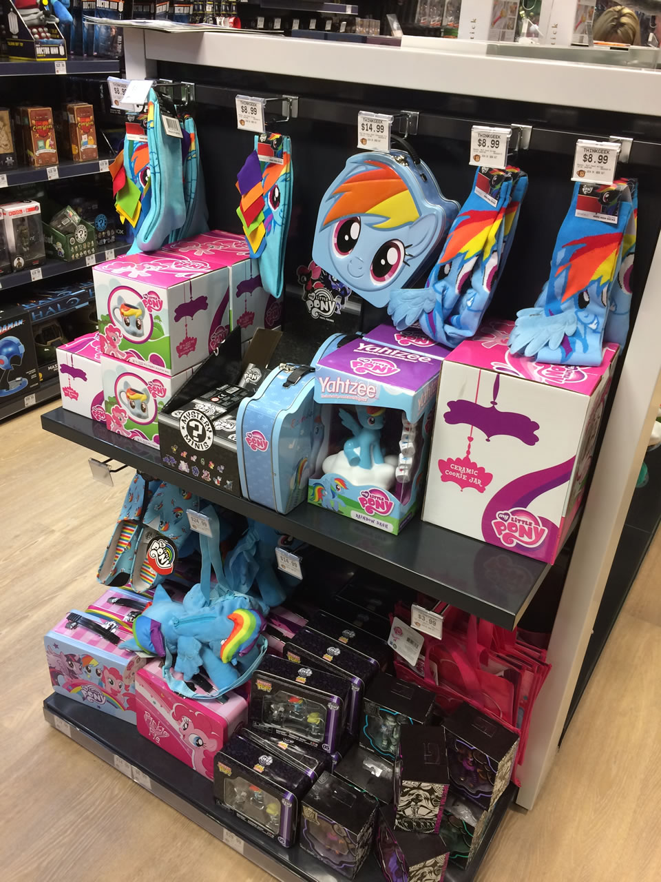 59 thinkgeek store - brony shelf