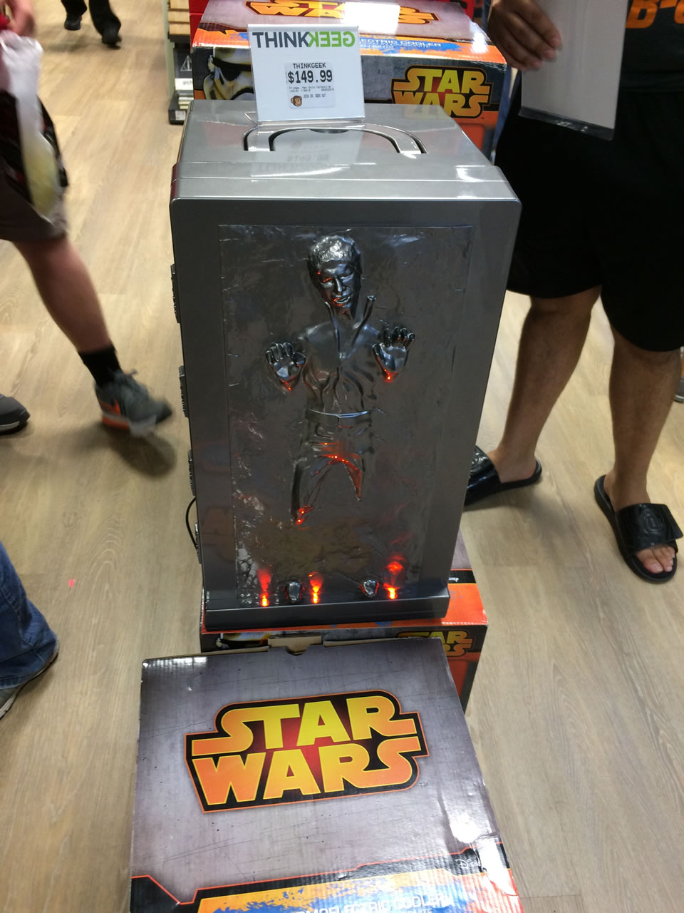 65 thinkgeek store - han solo fridge